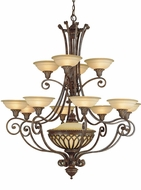 Feiss F1918-12-1-BRB Stirling Castle 13-light 47 inch Chandelier in British Bronze