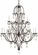 Feiss F1938-8-4-MBZ Chateau Traditional 12-light 36 inch Chandelier in Mocha Bronze