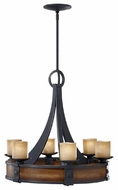 Feiss F25916AFAGW Madera 6-light Craftsman Chandelier Light