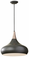 Feiss F2706-1-DBZ Belle Contemporary 16 Inch Tall Dark Bronze Pendant Lighting Fixture