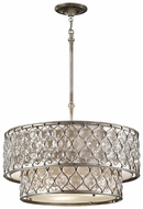 Feiss F2707-6-BUS Lucia 6 Light 24 Inch Diameter Two Tier Round Chandelier
