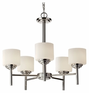Feiss F2766/5PN Malibu Polished Nickel Finish 5 Lamp Transitional Ceiling Chandelier