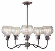 Feiss F2824/5RI Urban Renewal Rustic Iron Finish Chandelier - 5 Lights