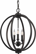Feiss F3060-3ORB Corinne Oil Rubbed Bronze Mini Chandelier Light