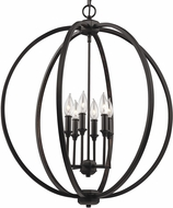 Feiss F3061-6ORB Corinne Oil Rubbed Bronze Hanging Chandelier