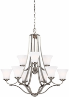 Feiss F3066-9SN Hamlet Satin Nickel Ceiling Chandelier