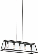 Feiss F3073-5ORB Harrow Contemporary Oil Rubbed Bronze Kitchen Island Light
