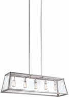 Feiss F3073-5PN Harrow Modern Polished Nickel Island Light Fixture