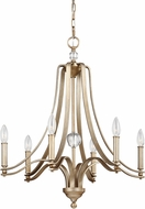 Feiss F3075-6SG Evington Sunset Gold Ceiling Chandelier