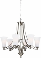 Feiss F3075-6SN Evington Satin Nickel Hanging Chandelier