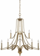 Feiss F3076-9SG Evington Sunset Gold Chandelier Light