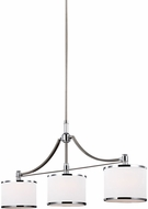 Feiss F3086-3SN-CH Prospect Park Satin Nickel / Chrome Island Lighting