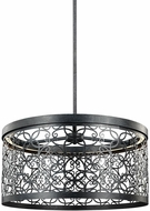Feiss F3097-1DWZ-LED Arramore Contemporary Dark Weathered Zinc LED Outdoor Lighting Pendant