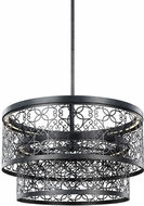 Feiss F3098-2DWZ-LED Arramore Modern Dark Weathered Zinc LED Exterior Pendant Lamp