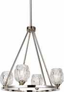 Feiss F3125-4PN Rubin Contemporary Polished Nickel Mini Chandelier Light