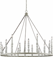 Feiss F3141-20DFB-DWH Norridge Distressed Fence Board / Distressed White Chandelier Lighting