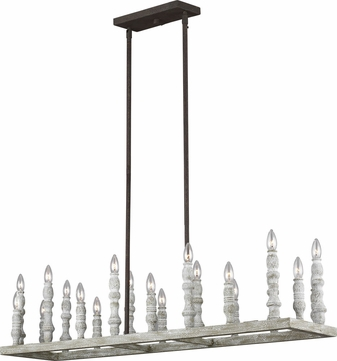 Feiss F3144-20DFB-DWH Norridge Distressed Fence Board / Distressed White Island Lighting