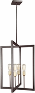 Feiss F3146-4NWB Finnegan Modern New World Bronze Foyer Lighting