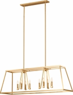 Feiss F3152-8GSB Conant Gilded Satin Brass Island Lighting