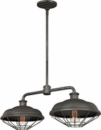 Feiss F3156-2SGM Lennex Vintage Slated Grey Metal Kitchen Island Lighting