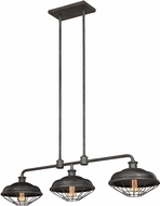 Feiss F3158-3SGM Lennex Vintage Slated Grey Metal Kitchen Island Light