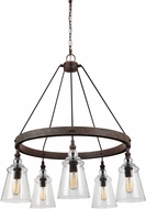 Feiss F3169-5DWI Loras Contemporary Dark Weathered Iron Chandelier Lighting