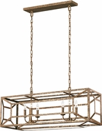 Feiss F3173-6DSGL Marquelle Contemporary Distressed Goldleaf Kitchen Island Light Fixture