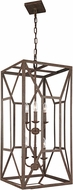 Feiss F3174-6WI Marquelle Modern Weathered Iron Foyer Light Fixture