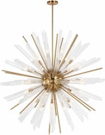 Feiss F3183-41BBS Quorra Contemporary Burnished Brass Hanging Light