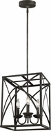 Feiss F3196-3IO Greenbrier Iron Oxide Foyer Lighting