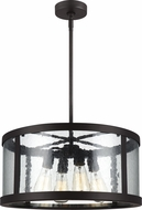 Feiss F3199-4ORB Harrow Oil Rubbed Bronze Drum Pendant Lighting