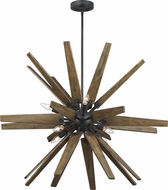 Feiss F3258-8DWZ-WOW Thorne Contemporary Dark Weathered Zinc / Weathered Oak Pendant Lighting