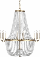 Feiss F3281-12ADB Marielle Contemporary Antique Gild Chandelier Light