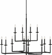 Feiss F3290-12AI Ansley Modern Aged Iron Ceiling Chandelier