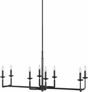 Feiss F3292-8AI Ansley Modern Aged Iron Island Light Fixture