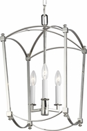 Feiss F3321-3PN Thayer Polished Nickel 12  Foyer Lighting