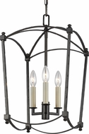 Feiss F3321-3SMS Thayer Smith Steel 12 Foyer Light Fixture