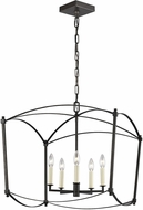 Feiss F3325-5SMS Thayer Smith Steel 23  Foyer Lighting Fixture