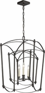 Feiss F3327-3SMS Thayer Smith Steel Foyer Light Fixture