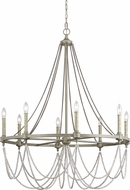 Feiss F3332-8FWO-DWW Beverly French Washed Oak / Distressed White Wood Chandelier Lamp
