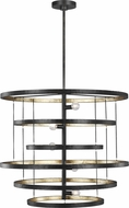 Feiss F3340-5AI-ADB Celeste Contemporary Aged Iron Ceiling Light Pendant