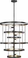 Feiss F3341-8AI-ADB Celeste Modern Aged Iron Ceiling Pendant Light