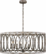 Feiss F3351-8DA Patrice Contemporary Deep Abyss Drum Pendant Lighting Fixture