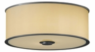 Feiss FM291-DBZ Casual Luxury Flush-Mount Ceiling Light in Dark Bronze