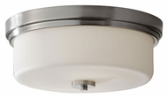 Feiss FM370BS Kincaid Flush Mount 13 Inch Diameter Brushed Steel Ceiling Light Fixture - Small