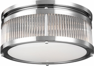 Feiss FM512CH Paulson Modern Chrome Flush Mount Lighting Fixture