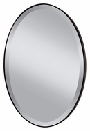 Feiss MR1126ORB Johnson Beveled Edge 36 Inch Tall Bronze Oval Wall Mirror