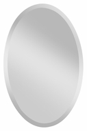 Feiss MR1153 Infinity 36 Inch Tall Beveled Edge Oval Wall Mirror
