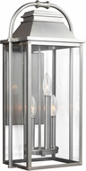 Feiss OL13201PBS Wellsworth Painted Brushed Steel Exterior Wall Sconce Lighting