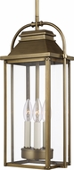 Feiss OL13209PDB Wellsworth Painted Distressed Brass Outdoor Hanging Pendant Lighting